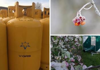 Нови 50 литрови бутилки от V-Gas за защита на овощни насаждения